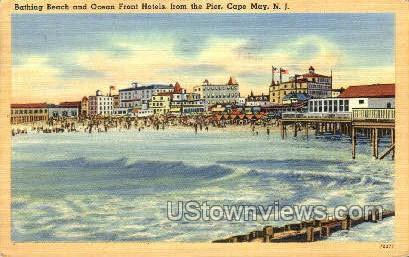 Bathing Beach  - Cape May, New Jersey NJ Postcard
