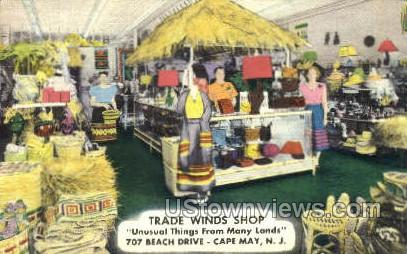 Trade Winds Shop  - Cape May, New Jersey NJ Postcard