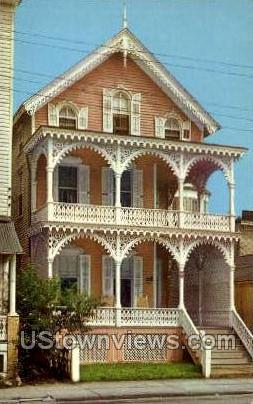 Pink House  - Cape May, New Jersey NJ Postcard
