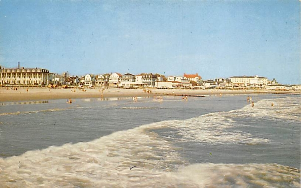 Beachfront View from Ocean Cape May, New Jersey Postcard
