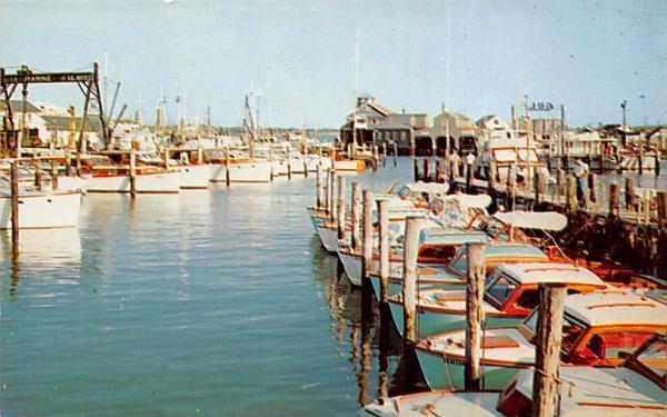 Dock Scene Cape May, New Jersey Postcard