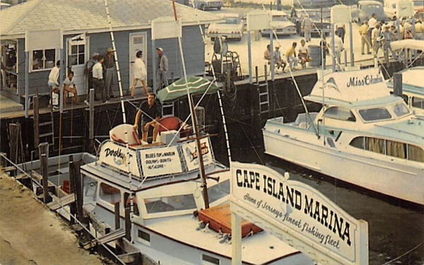 Party Boat Fishing from Cape Island Marina Cape May, New Jersey Postcard