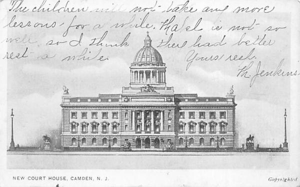 New Court House Camden, New Jersey Postcard