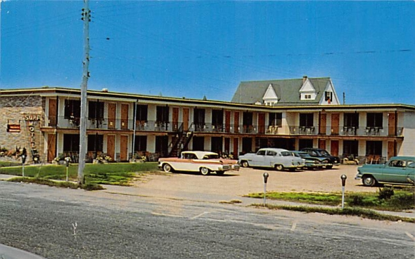 Surf Motel Cape May, New Jersey Postcard