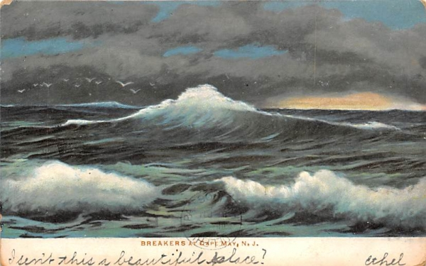 Breakers Cape May, New Jersey Postcard