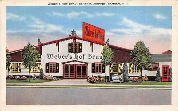 Weber's Hof Brau, Cental Airport Camden, New Jersey Postcard