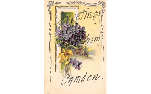 Greetings from Camden New Jersey Postcard