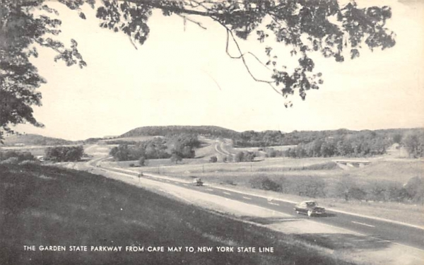 Cape May to New York State Line New Jersey Postcard