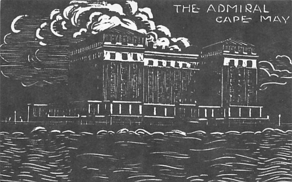 The Admiral Cape May, New Jersey Postcard