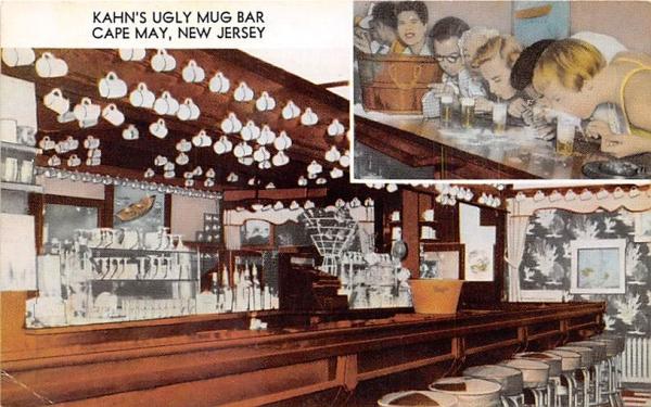 Kahn's Cocktail Bar Cape May, New Jersey Postcard