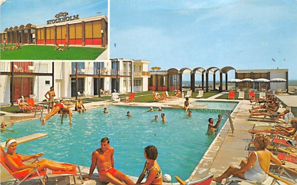 Stockholm Motel Cape May, New Jersey Postcard