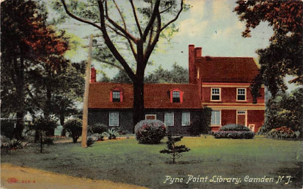 Pyne Point Library Camden, New Jersey Postcard