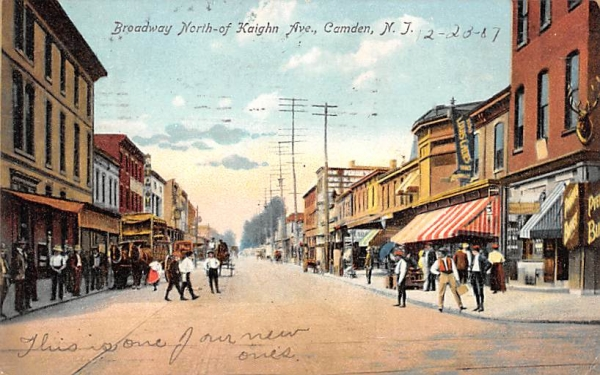 Broadway North-of-Kaighn Ave Camden, New Jersey Postcard