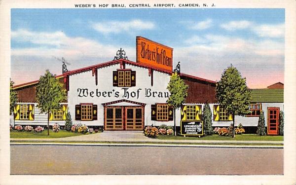 Weber's Hof Brau, Central Airport Camden, New Jersey Postcard