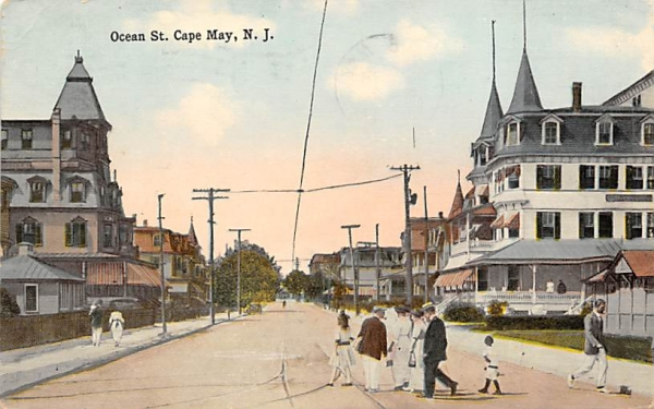 Ocean St.   Cape May, New Jersey Postcard