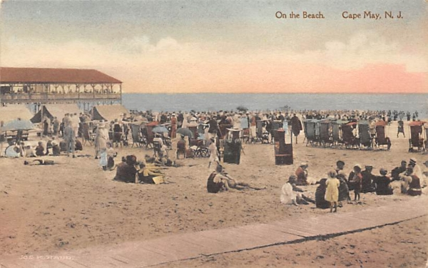 On the Beach Cape May, New Jersey Postcard