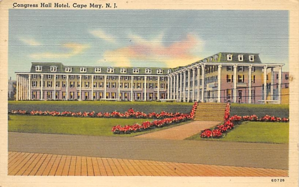 Congree Hall Hotel Cape May, New Jersey Postcard