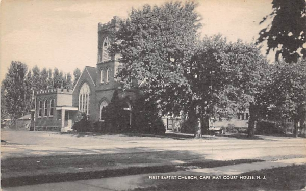 First Baptist Church, Cape May Court House New Jersey Postcard