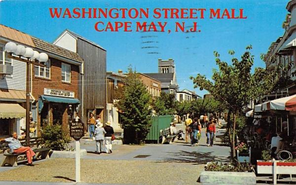 Washington Street Mall Cape May, New Jersey Postcard