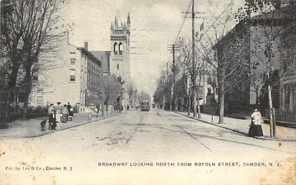 Broadway Looking North from Royden Street Camden, New Jersey Postcard