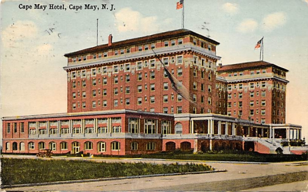 Cape May Hotel New Jersey Postcard