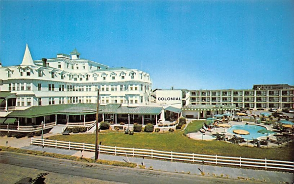 The Colonial Hotel and New Motor Lodge Cape May, New Jersey Postcard