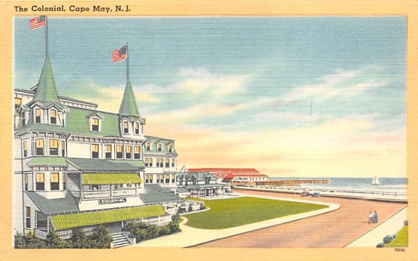 The Colonial Cape May, New Jersey Postcard
