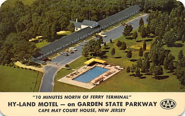 Hy-Land Motel - on Garden State Parkway Cape May, New Jersey Postcard