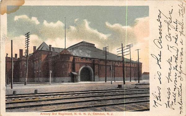 Armory 3rd Regiment, N. G. N. J.  Camden, New Jersey Postcard