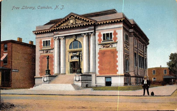 Free Library Camden, New Jersey Postcard