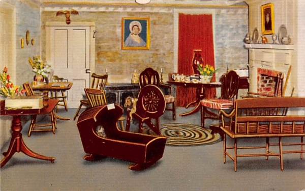Period Room, Cape May County Museum New Jersey Postcard