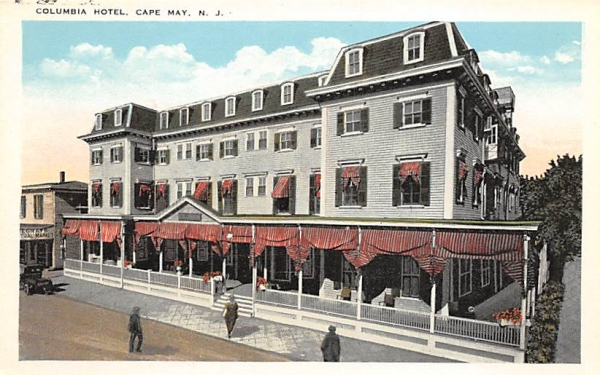 Columbia Hotel Cape May, New Jersey Postcard