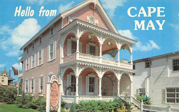 The Pink House Cape May, New Jersey Postcard