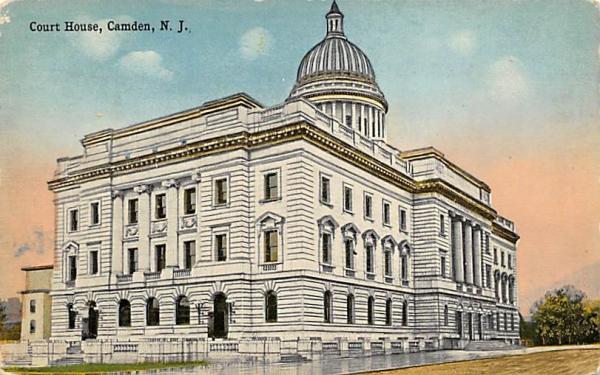 Court House Camden, New Jersey Postcard