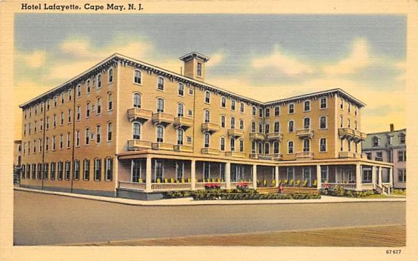 Hotel Lafayette Cape May, New Jersey Postcard