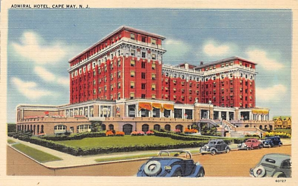 Admiral Hotel Cape May, New Jersey Postcard
