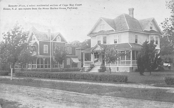 Romney Place Cape May, New Jersey Postcard