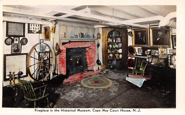 Fireplace in the Historical Museum  Cape May, New Jersey Postcard