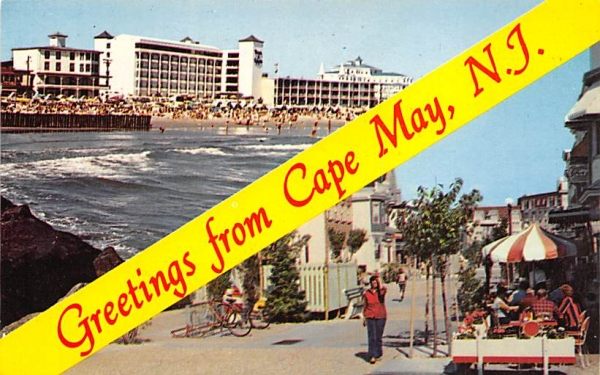 Greetings from Cape May, N.J., USA New Jersey Postcard