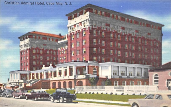 Christian Admiral Hotel Cape May, New Jersey Postcard