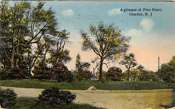 A glimpse of Pine Point  Camden, New Jersey Postcard