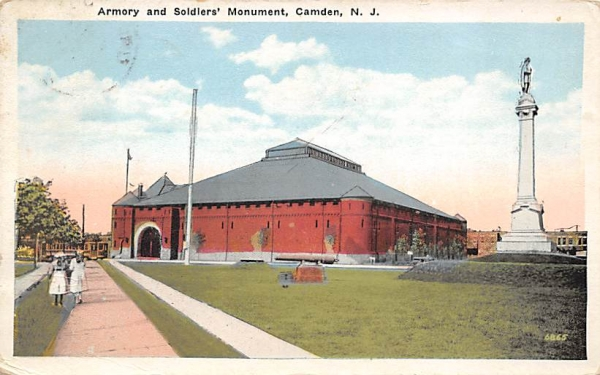 Armory and Soldiers' Monument Camden, New Jersey Postcard