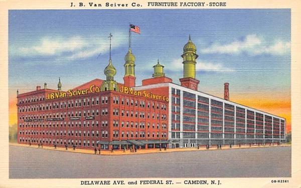J. B. Van Sciver Co. Furniture Factory - Store Camden, New Jersey Postcard