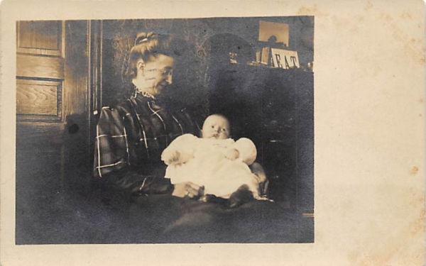 Photo of woman holding a baby Camden, New Jersey Postcard