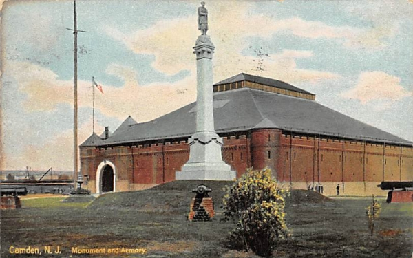 Monument and Armory Camden, New Jersey Postcard