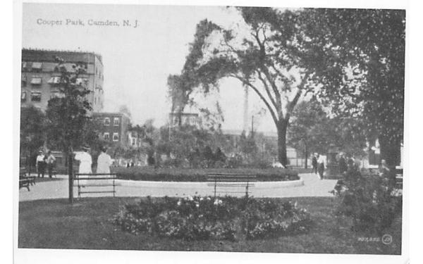 Cooper Park Camden, New Jersey Postcard