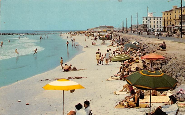 Beach Scene Looking South Cape May, New Jersey Postcard
