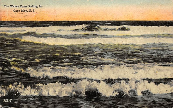 The Waves Come Rolling In Cape May, New Jersey Postcard