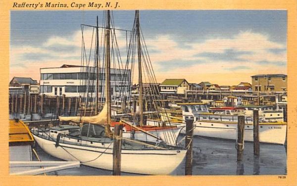Rafferty's Marina Cape May, New Jersey Postcard