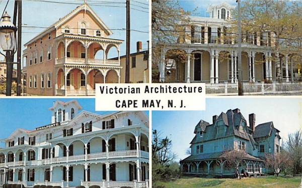 Victorian Architecture Cape May, New Jersey Postcard